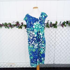 Dana Buchman hawaiian floral dress